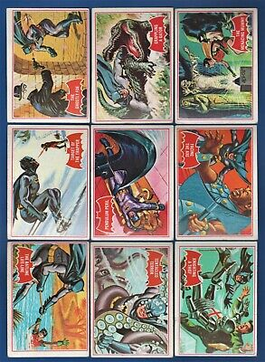 1966 Topps BATMAN  RED BAT COMPLETE 44 card Set   VG+ Condition    NO RESERVE !!