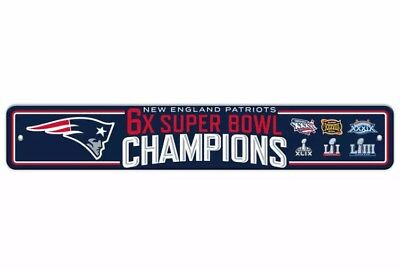 2018 Super Bowl 53 Champions Street Sign - NFL New England Patriots