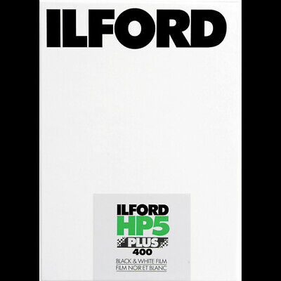 Ilford HP5 400 Plus B&W Negative Print Film 4 x 5, 25 Sheets