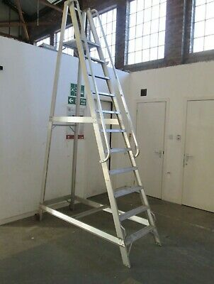 Warehouse Access Ladder 10 Step Fixed A Frame Large Reach Shelving Racking