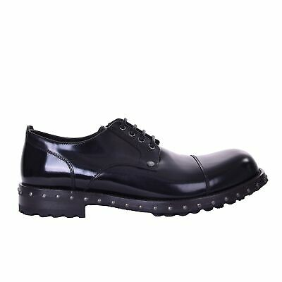 c493eeff DOLCE & GABBANA Stable Patent Leather Derby Shoes SAN PIETRO Black 08025