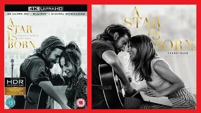 A Star is Born 4K Ultra HD Blu-ray Soundtrack CD Pack Bradley Cooper Lady Gaga