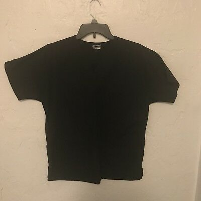Cherokee Workwear Scrub Top Size XS Black