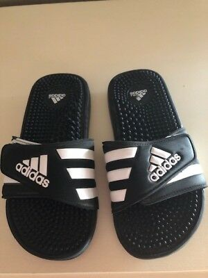 3b57b01aec27c ADIDAS ADISSAGE K Black/white Slide In Sandal Unisex Youth Kid SZ 3