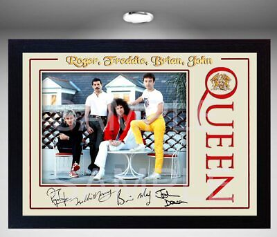 QueenFreddie Mercury SIGNED Framed Photo PRINT reprint POSTER Perfect gift