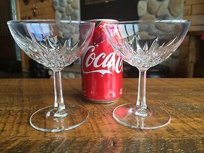 2 Vintage Crystal Champagne Glasses Marked France