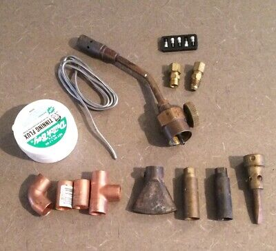 Misc Lot Solder Items Flux Elbows Tees Torch Fittings More