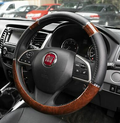 Wood Effect & Black Luxury Steering Wheel Cover for BMW X5 All Years