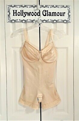 YOUNG SMOOTHIE Strouse Adler Vtg 60s Full Body Shaper Girdle Lingerie Nude 36D