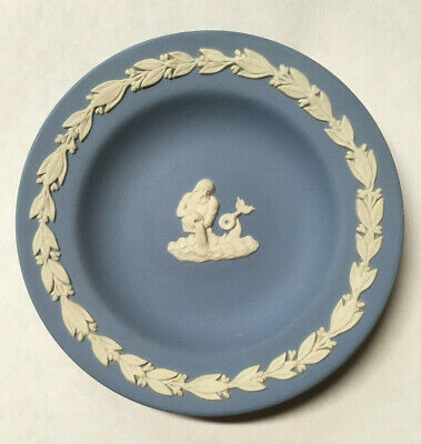 Vintage Wedgwood Blue Jasperware Plate Dish Made in England