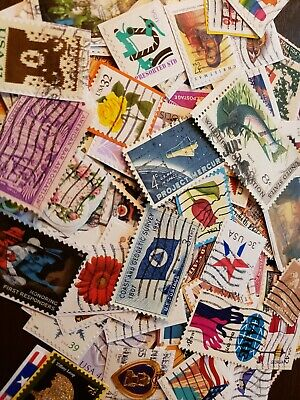150+ Us Cancelled Stamps - No Duplicates, Mixed Variety, Great Starter Lot!