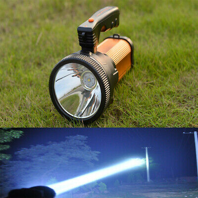 35W Super Bright LED Searchlight Spotlight Rechargeable Flash Light Torch Lamps