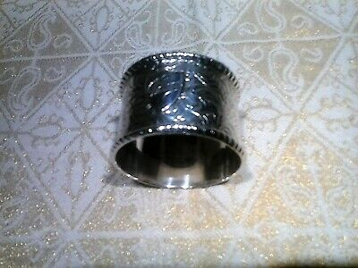 Bimingham 1881,George Unite,Sterling Slver,Napkin Ring.