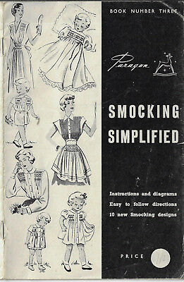 Smocking Simplified Paragon # 3 vintage pattern book sewing embroidery