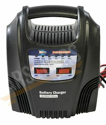 Fully Automatic Battery Trickle Charger 15Amp Land Rover Defender New Shape
