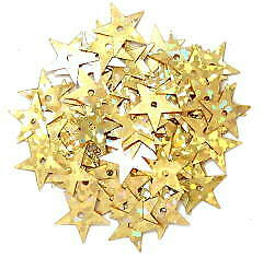 The Craft Factory CF01/0110[1-2] | Hologram Star Sparkle Sequins 10mm approx 7g