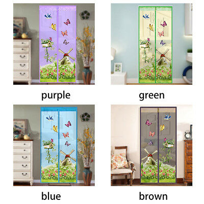 Magnetic Fastening Curtain Fly Bug Insect Screen Door Mesh 35*83 inch