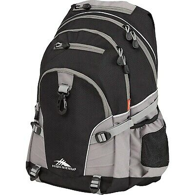 High Sierra Loop Backpack, Black/Charcoal. Free Delivery