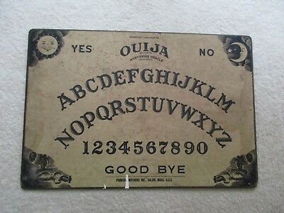 Vintage Ouija board by Parker Brothers of Massachusetts with no planchette