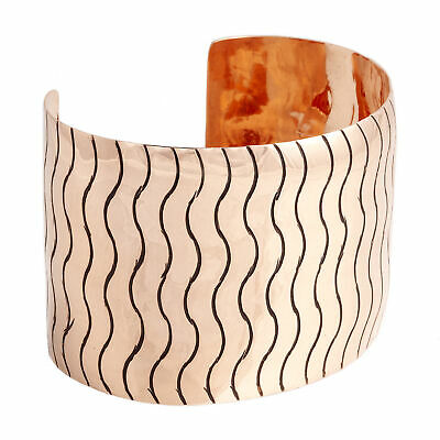 $600Tag Wave Copper Certified Authentic Navajo Native American Bracelet 13231