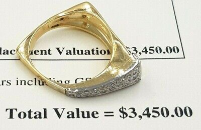 Mutli Style 18K Yellow Gold Genuine 0.44Ct Diamond Ladies Engagement Ring 750