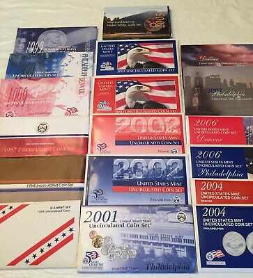 Lot of US Mint Uncirculated Coin Sets, Various, See List