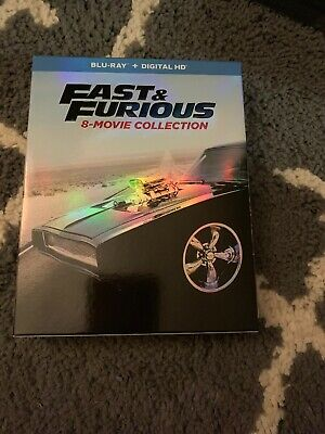 Fast and Furious: 8-Movie Collection (Blu-ray, Digital, 9-Disc )