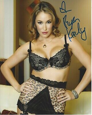 SEXY ADULT FILM MODEL RYAN KEELY HAND SIGNED 8x10 PHOTO w/COA PROOF ACTRESS