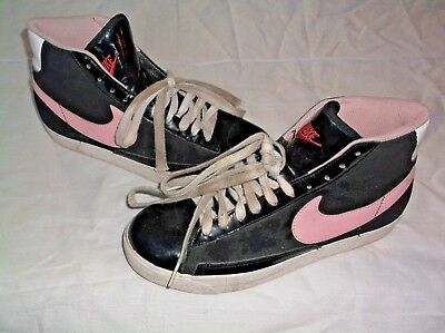 Nike Love Hearts Pink Girls Youth Hi Top Sneakers Athletic Basketball Shoes