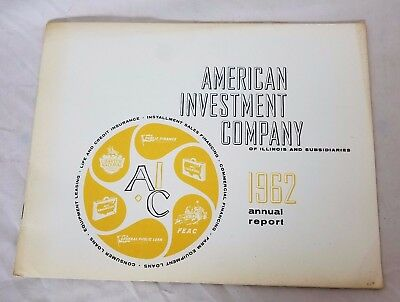 1962 American Investment Company Annual Report Shareholders Financial Statement