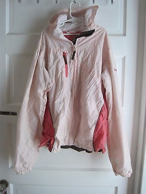Columbia Hooded Packable Mesh Lined Windbreaker Rain Jacket Girls 18 20 Pink