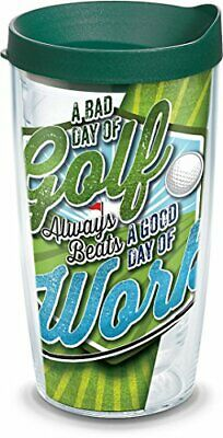 Tervis 16 oz. Golf VS Work Tumbler With Lid 16 oz. Travel Tumbler Green