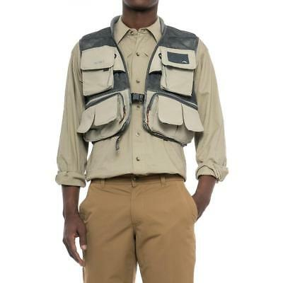 New SIMMS Headwaters Mesh Fly Fishing Vest All Sizes Sand DWR XL/XXL