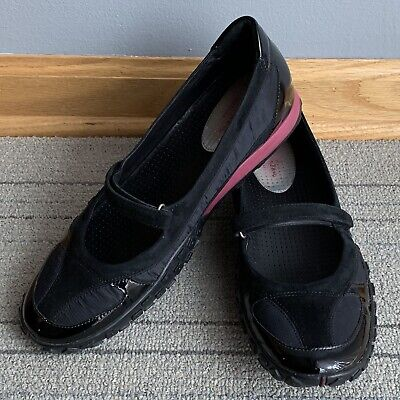 40a42678a Cole Haan NikeLab G Series D23156 Black Patent Leather Suede Mary Jane Flats  10B