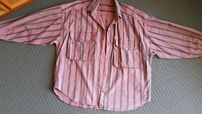 Men's vintage shirt c1985 - large pockets -  Cotton - Size M