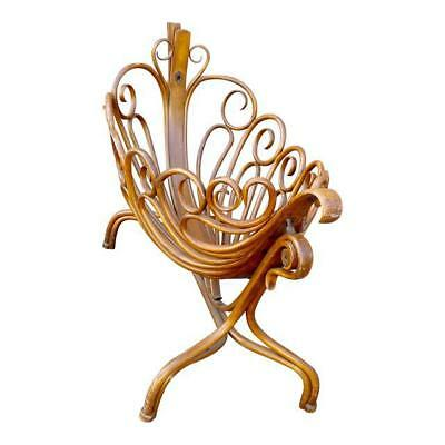 19th century beautiful curvy swinging baby Cradle