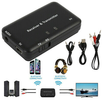 B9 Bluetooth Audio Adapter Transmitter Receiver for Car Home Stereo System nt1