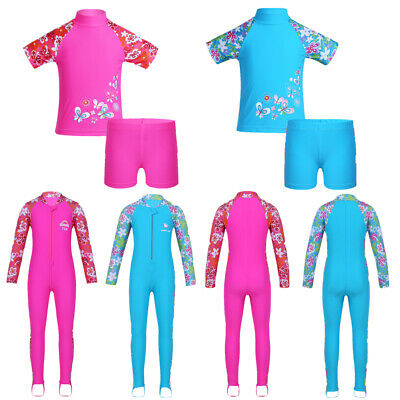 Toddler Girls Rash Guard Swimsuit Bath Surfing Swimming Swimwear Beach Costume