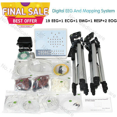 CE 24 Channel EEG Machine Digital Brain Electric Activity Mapping System+pc sw