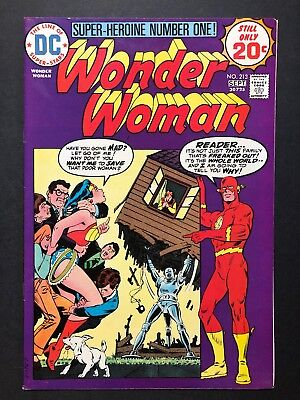 Wonder Woman #213 (Aug-Sep 1974, DC) CLASSIC SUPERHERO SERIES * FEATURING FLASH