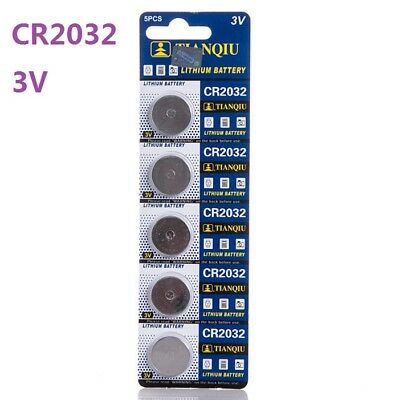 5pcs 3V CR2032 DL2032 ECR2032 3 Volt Button Coin Cell Battery for CMOS watch toy