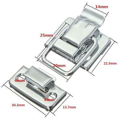 Fastener Toggle Latch Catch Chest Case Suitcase Boxes Chests Trunk Lock Silver