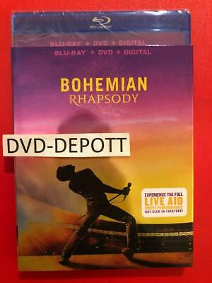 Bohemian Rhapsody Blu-Ray + DVD + Digital HD & Slipcover New FAST Free Shipping