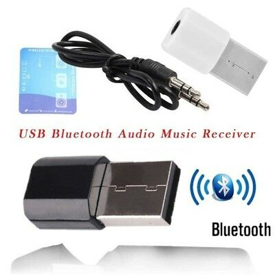 Mini USB Wireless Bluetooth 3.5mm Audio Stereo Music Receiver Adapter AUX Car.