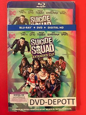 Suicide Squad Blu-ray + DVD + DIGITAL HD & Slipcover Brand New Free Shipping