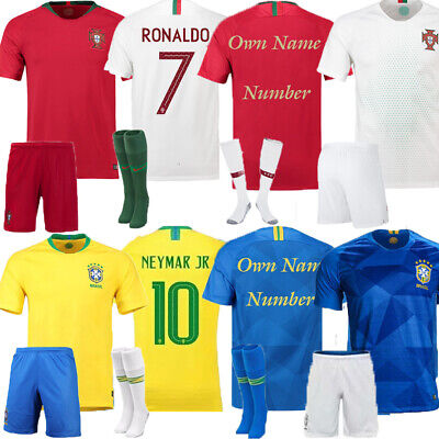 18/19 Football Club Adult Kits Soccer Short Sleeve Jersey Suits+Socks