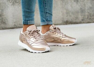 23a49188e77 REEBOK CLASSIC LEATHER Melted Metal Trainers BS7897 - UK 4 - EUR 52 ...
