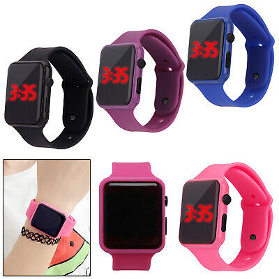 Womens Ladies Mens Kids Silicone LED Waterproof Digital Sports Wrist Watches NEW