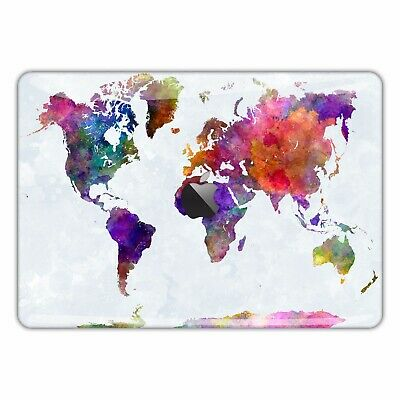 MacBook Skin Decal Sticker Air Vinyl Pro Retina Watercolor World map FSM321