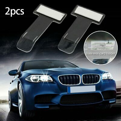 2Pcs/set Car Vehicle Parking Ticket Permit Clip Sticker Holder Windscreen Window